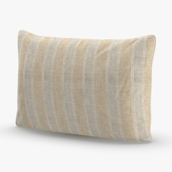 modern-throw-pillows---white 3D model