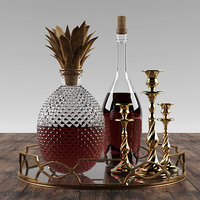 3D pineapple whisky set