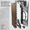 Smartphone 3D components set