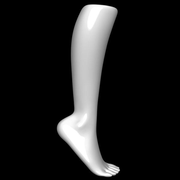 3D mannequin foot man