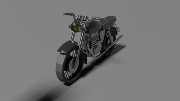 simple motorcycle 3D model