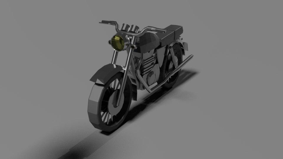 simple motorcycle 3D model
