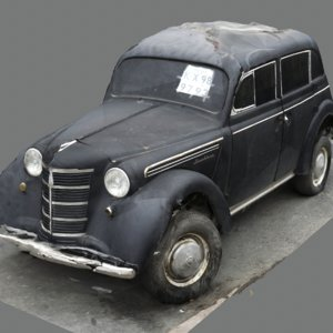 3D scan old car opel model