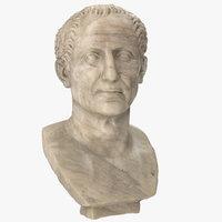 3D julius caesar bust