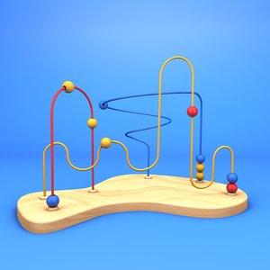 wooden maze toy dentist 3D model