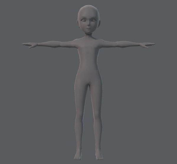3D base character man