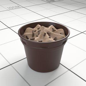 chocolate ice cream cup 3D model