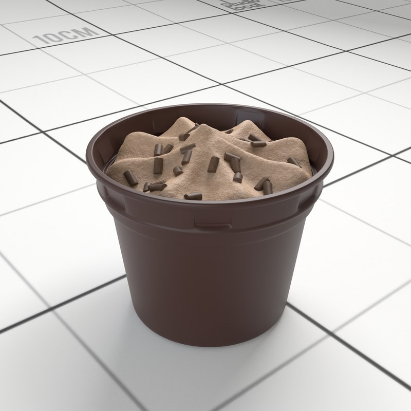 chocolate ice cream cup 3D model