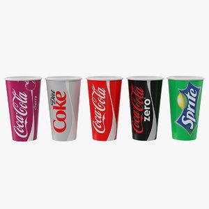 3D paper soda cups