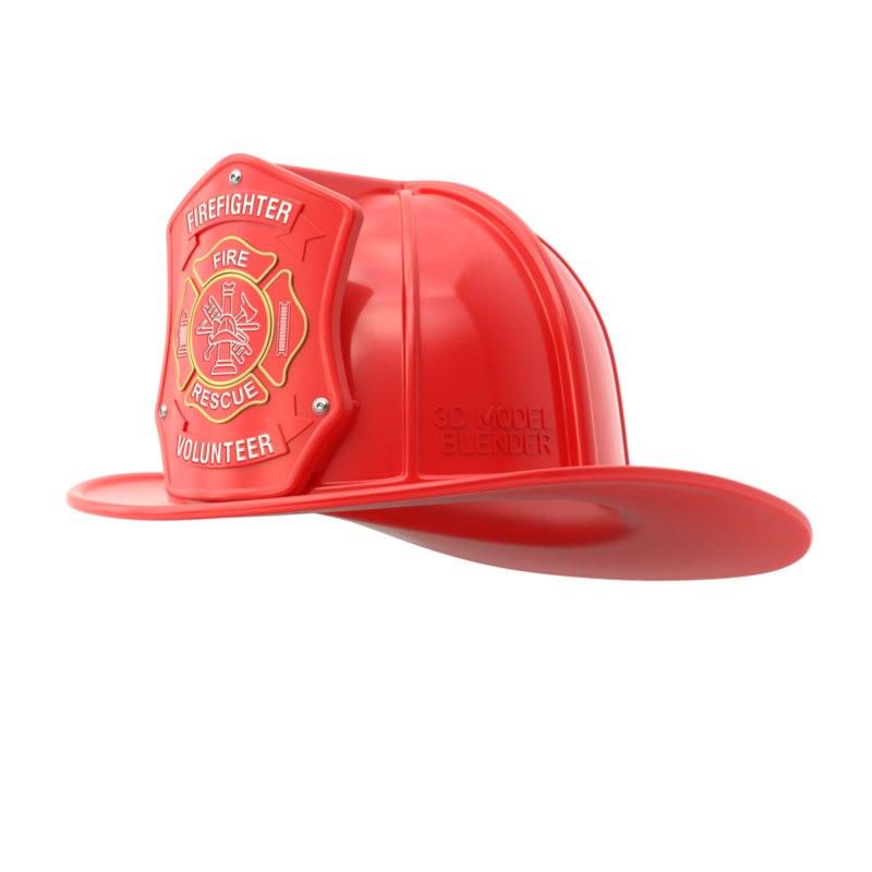 firefighter helmet 3D model