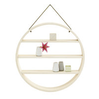3D model circle shaped wall shelf