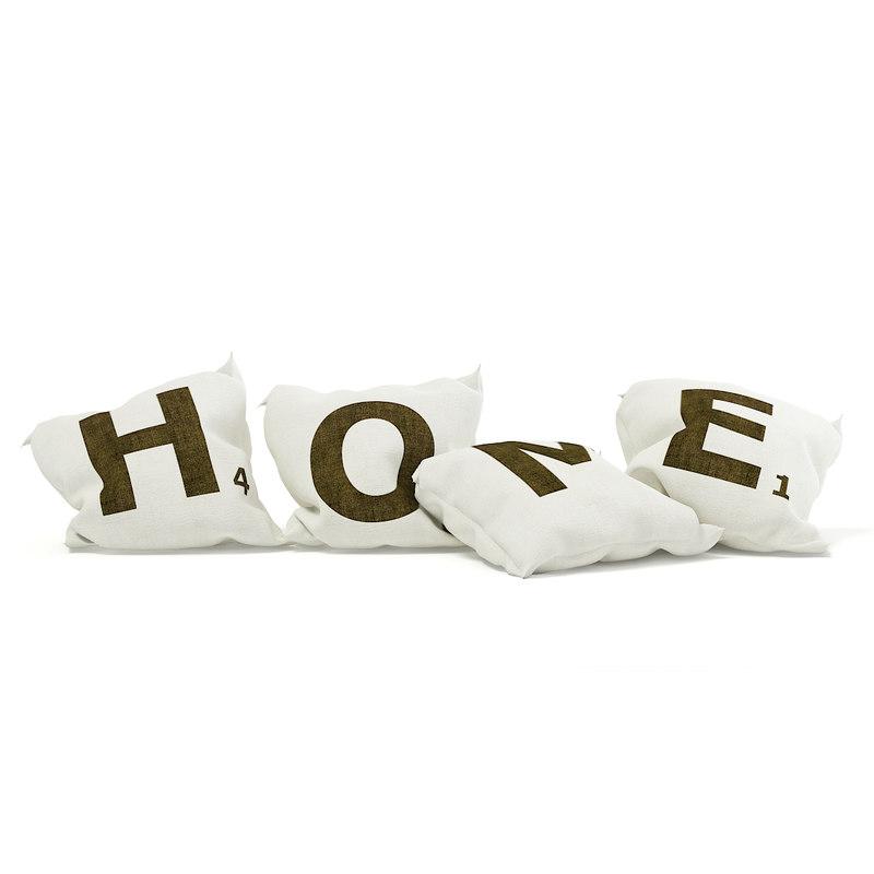 3D decorative pillows