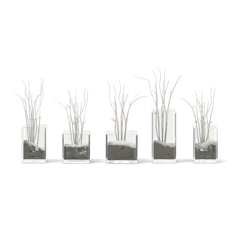 3D decorative flasks model
