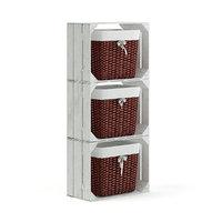 white basket shelf 3D model