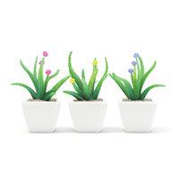 3D plastic flowers