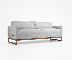 diplomat sleeper sofa blu 3D model