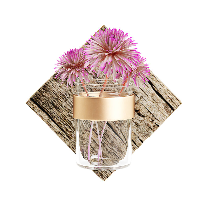3D wall hanging flask flower