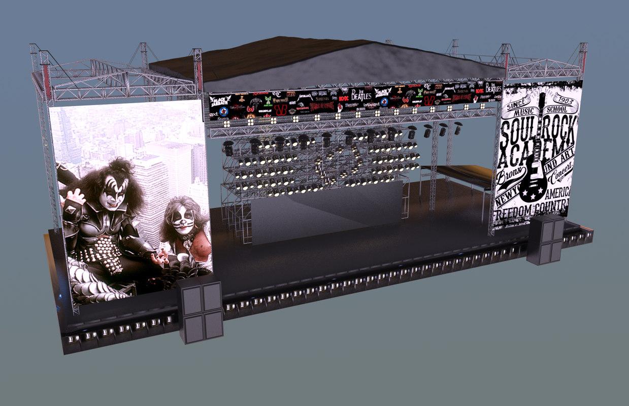 3D concert stage model