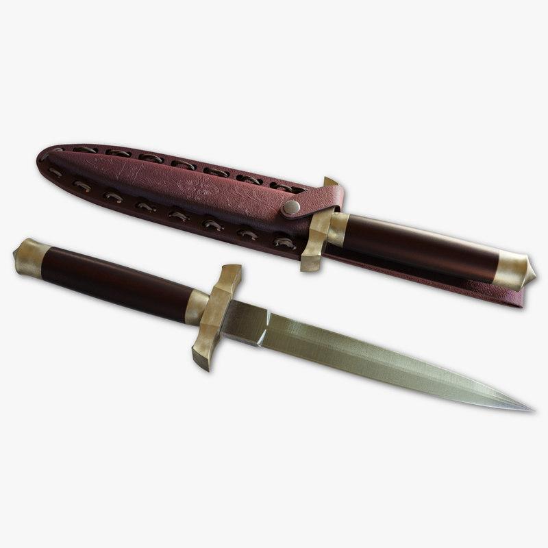 modern dagger 3D model