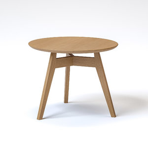uhs group penny table wood 3D model