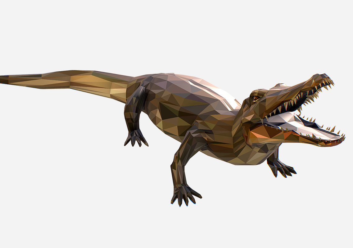 animal art crocodile reptile model