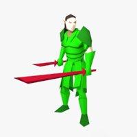 dual wielding swordsman 3D