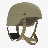 kevlar helmet tan 3D model