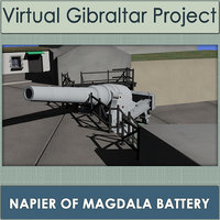 napier magdala battery gibraltar 3D model