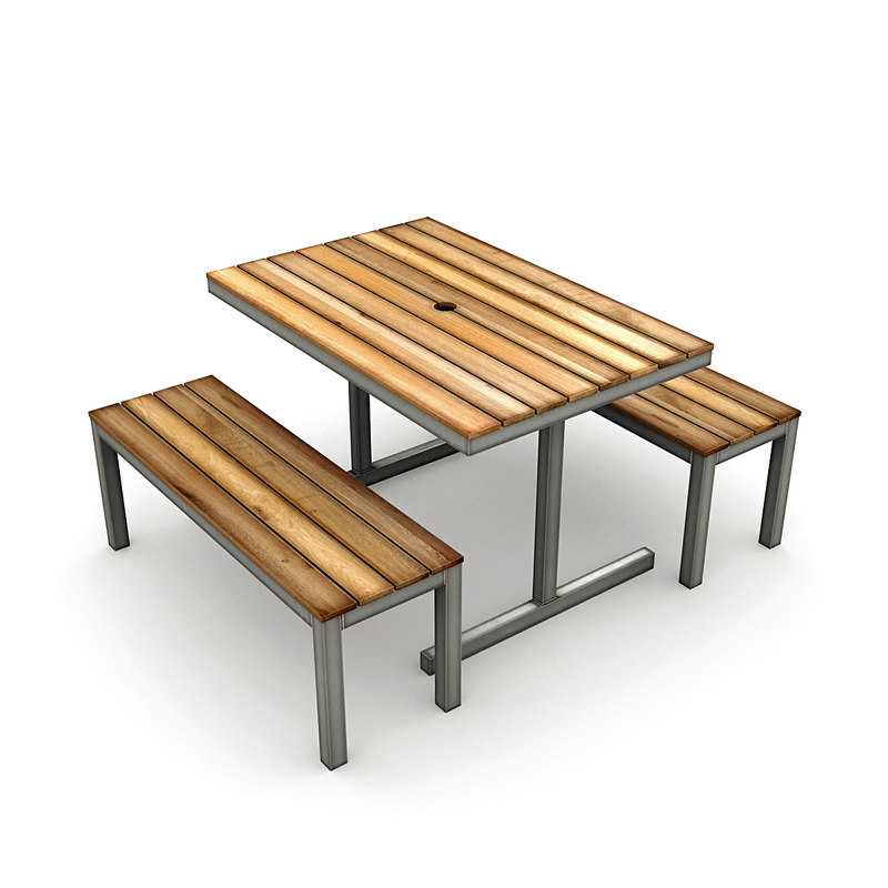 3D cafe table chairs model