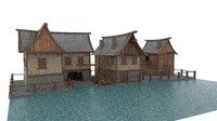 shipyard medieval 3D model