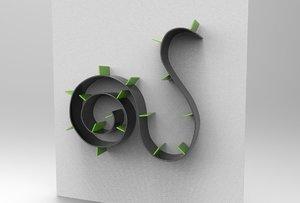bookworm ron arad library 3D