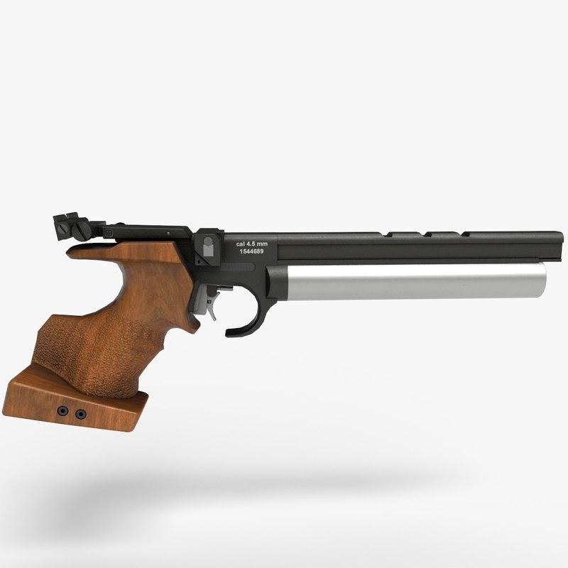 10 air pistol pbr 3D model