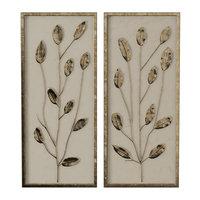 gold leaf linen panels model