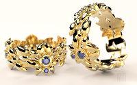 gold ring stones 3D model