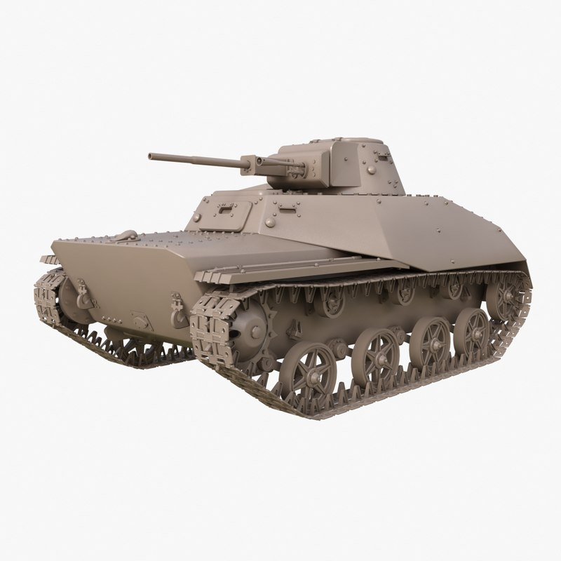 tank t 40 soviet 3D model