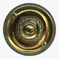 3D brass doorbell model