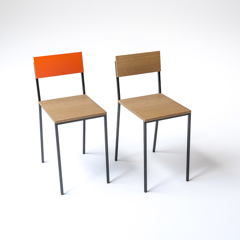 burger king style chairs 3D model