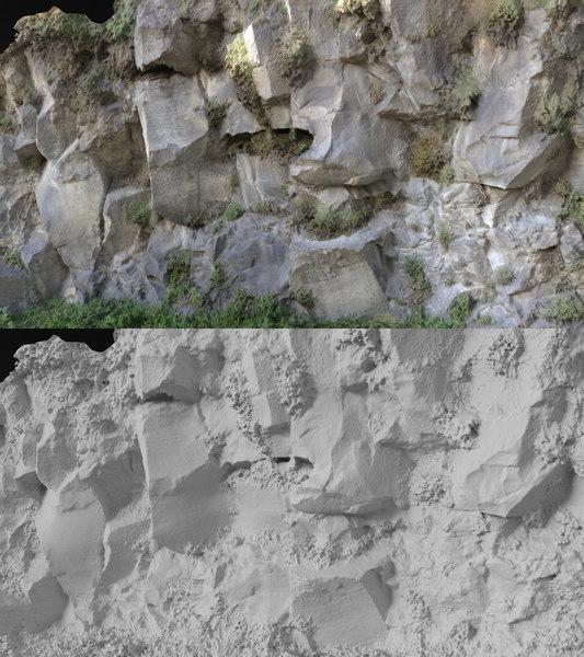 3D rock scanned model
