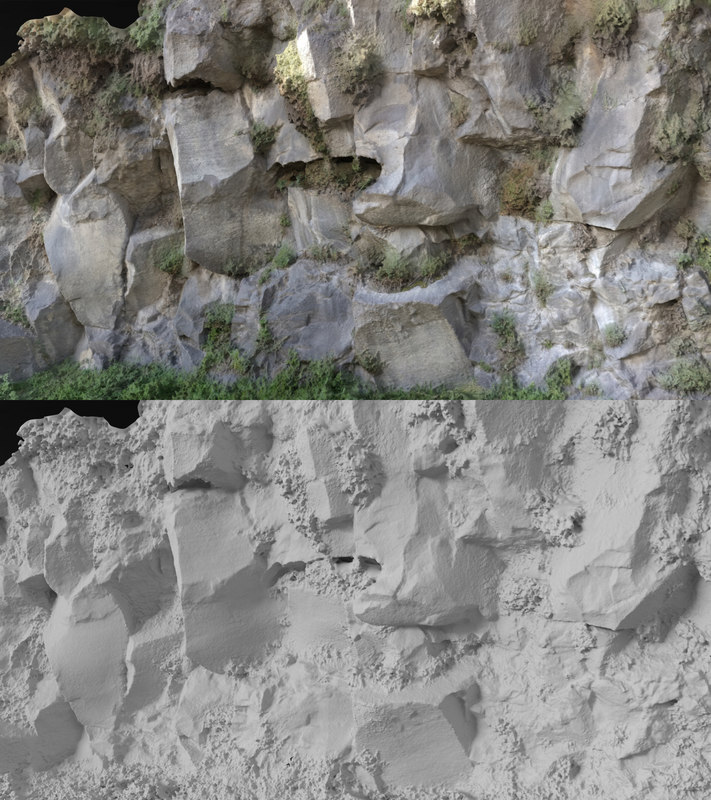 3D rock scanned model