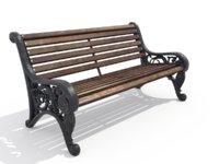 park bench 3D