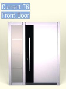 door opened closed 3D model