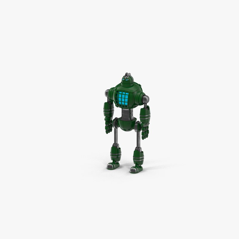 3D robot character android