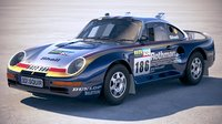 3D porsche 958 rothmans model