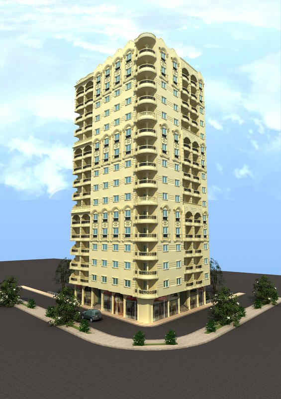 3D classic residential building
