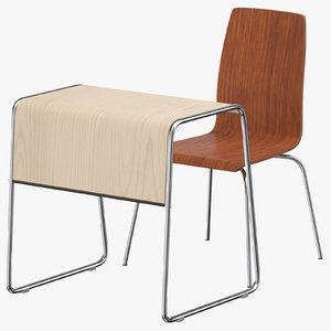 student desk 01 3D model