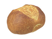 photorealistic scanned semmel bread 3D model