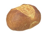 photorealistic scanned semmel bread 3D model