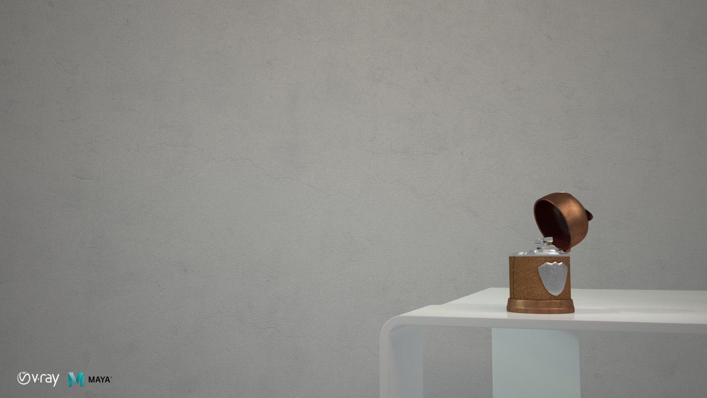 3D model lighter interior materials