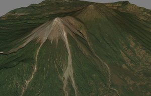 3D mesh fuego mountain - model