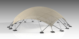 3D tent dome model